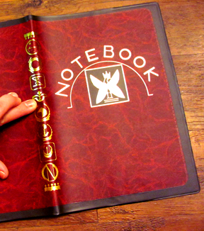 The red marble, mystery notebook